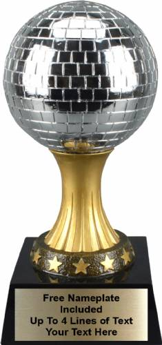 "Large 12 1/2"" tall Mirror Ball Personalized Trophy"