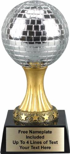 "6"" tall Mirror Ball Personalized Trophy"