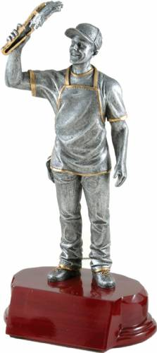 "7 1/4"" BBQ Chef Resin Figure with base"