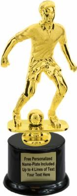 "9"" Male Soccer Trophy Kit with Pedestal Base"