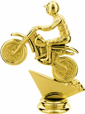 "Gold 4-1/2"" Motocross Trophy Figure"