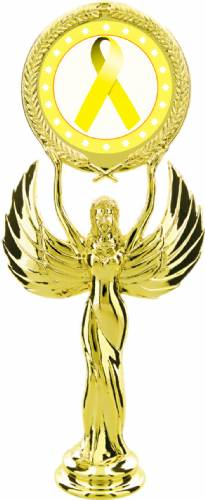 "Gold 7 1/2"" Yellow Ribbon Awareness Trophy Figure"