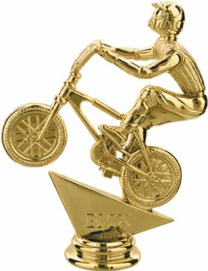 "Gold 5"" BMX Bicycle Trophy Figure"
