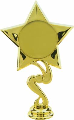 "6-1/4"" 2"" Star Insert Holder Trophy Figure"