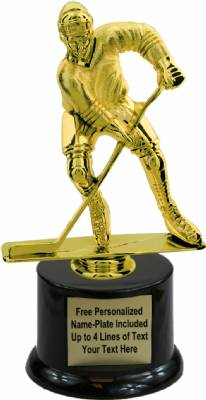 "8"" Male Hockey Trophy Kit with Pedestal Base"