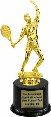 "8"" Male Tennis Trophy Kit with Pedestal Base"