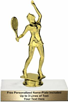 "6 3/4"" Female Tennis Trophy Kit"