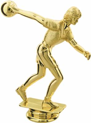"Gold 5"" Female Bowler Trophy Figure"
