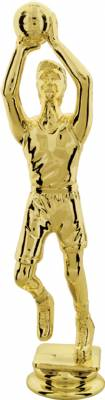"Gold 6-3/4"" Male Basketball Trophy Figure"