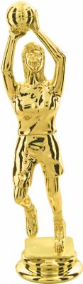 "Gold  5-3/4"" Female Basketball Trophy Figure"