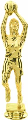 "Gold  6-3/4"" Female Basketball Trophy Figure"