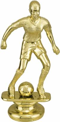 "Gold 5"" Female Soccer Trophy Figure"