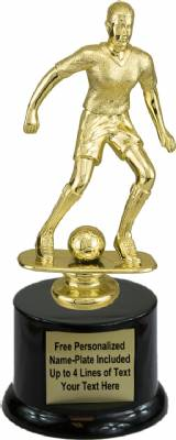 "9"" Female Soccer Trophy Kit with  Pedestal Base"