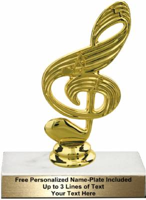 "5 1/2"" Music Note Trophy Kit"