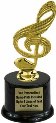 "6 3/4"" Music Note Trophy Kit with Pedestal Base"
