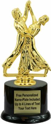 "7 1/2"" Ball Room dancing Trophy Kit with Pedestal Base"
