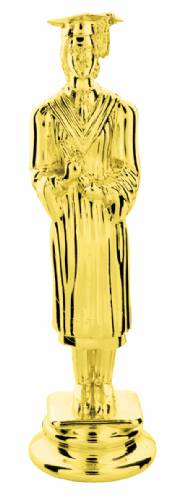 "Gold 5"" Female Graduate Trophy Figure"