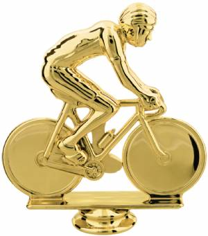 "Gold 5"" Male Cycling Trophy Figure"
