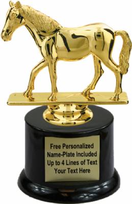 "5 1/2"" Quarter Horse Trophy Kit with Pedestal Base"