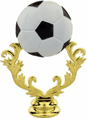"Gold 5"" Color Soccer Ball Trophy Figure"