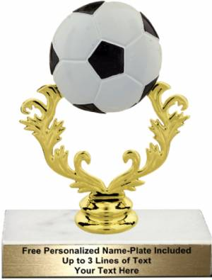"5 3/4"" Color Soccer Ball Trophy Kit"