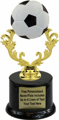 "7"" Color Soccer Ball Trophy Kit with  Pedestal Base"