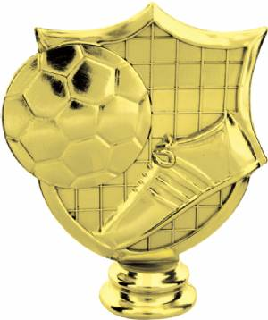 "Gold 4-1/2"" Soccer Shield Trophy Figure"
