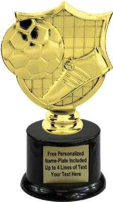 "6 1/2"" Soccer Shield Trophy Kit with  Pedestal Base"