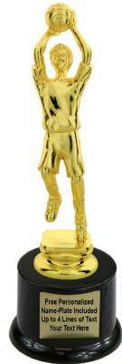 "8"" Male Youth Basketball Trophy Kit with Pedestal Base"