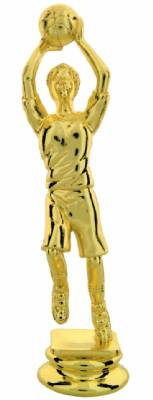 "Gold 6"" Female Youth Basketball Trophy Figure"