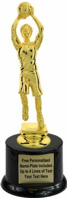 "8"" Female Youth Basketball Trophy Kit with Pedestal Base"