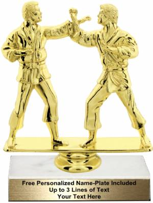 "5 3/4"" Male Double Karate Trophy Kit"