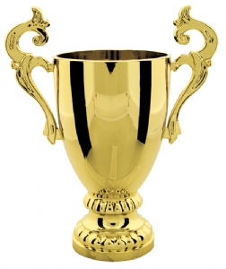 "Gold 7 1/4"" Plastic Trophy Cup"