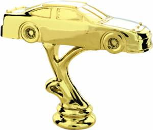 "Gold 4"" Stock Car Trophy Figure"