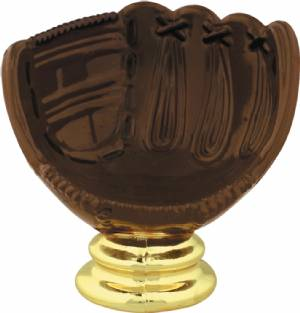 "3-1/4"" Color Baseball Glove - Ball Holder Trophy Figure"