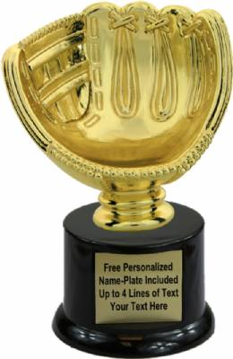 "6"" Softball Glove - Ball Holder Trophy Kit with Pedestal Base"