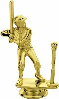 "Gold 4-3/4"" Male T-Ball Trophy Figure"