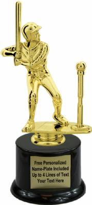 "8"" Male T-Ball Trophy Kit with Pedestal Base"