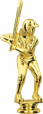 "Gold 5"" Female Softball Trophy Figure"