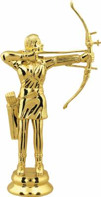 "Gold 6"" Female Archer Trophy Figure"