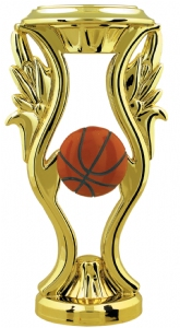 "Gold 6"" Color Basketball Trophy Riser"