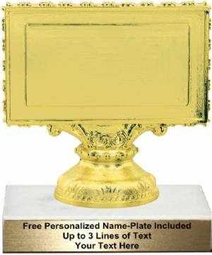 "4 3/4""  - 3-1/2"" x 2""  Plate Holder Trophy Kit"