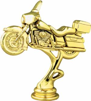 "Gold 4-7/8"" Road Motorcycle Trophy Figure"