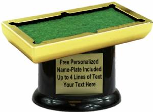 "4 1/4"" Pool Table Trophy Kit with Pedestal Base"