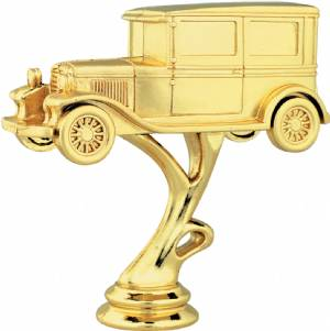 "Gold 4-1/4"" Antique Car Trophy Figure"