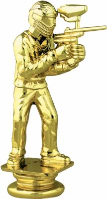 "Gold 4 3/4"" Paintball Trophy Figure"