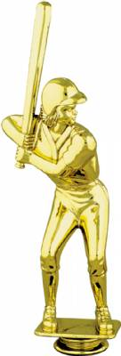 "Gold 8-3/4"" Female Softball Trophy Figure"