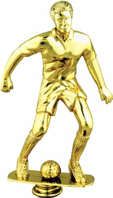 "Gold 9"" Male Soccer Trophy Figure"