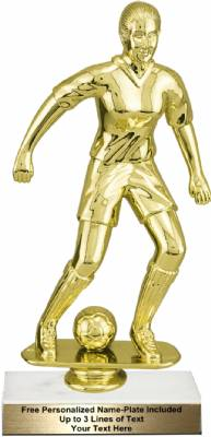 "9 3/4"" Female Soccer Trophy Kit"