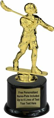 "7"" Male Lacrosse Trophy Kit with Pedestal Base"